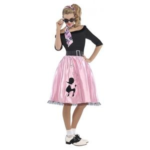 Poodle Dress 50s Costume Adult Sock Hop Girl